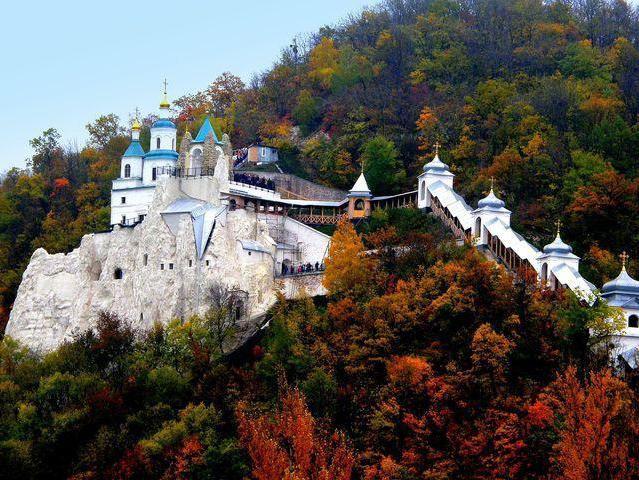 Donetský kraj, Svyatogorský klášter: historie, rektor, památky a svatyně