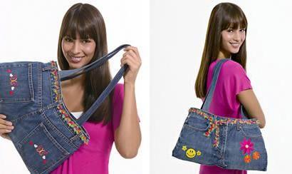 Jeans kabelka: jednoduché a rychlé