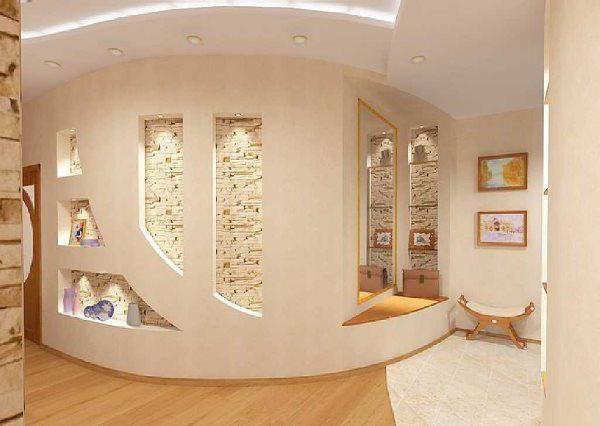 Obrázky ze sádrokartonu v interiéru: nápady, výroba, instalace