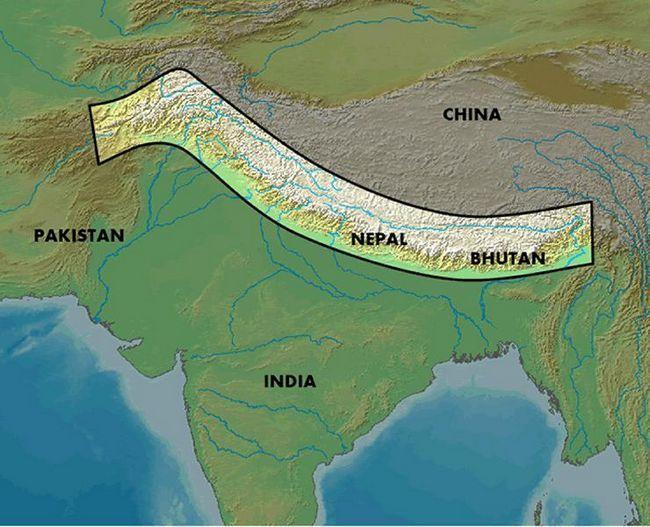 Kde jsou Himaláje: zeměpisná poloha, popis, výška