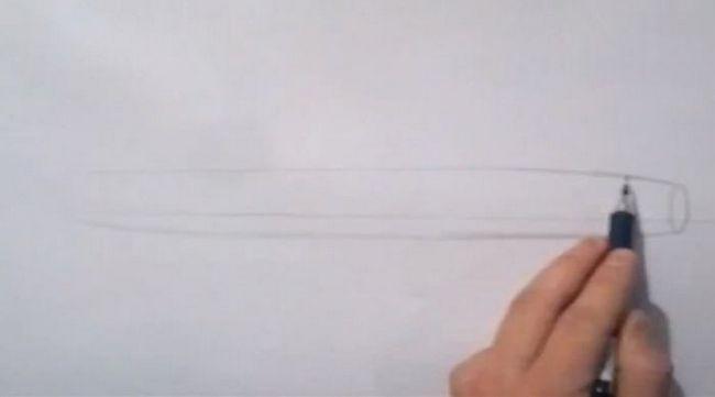 jak nakreslit letadlo postupně