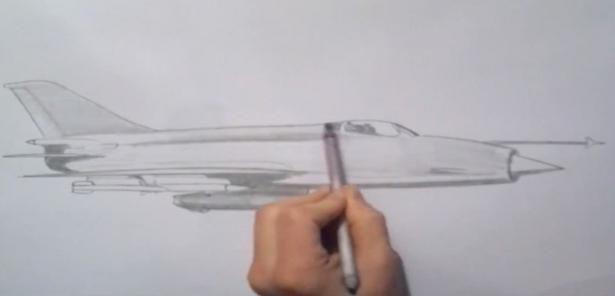 jak nakreslit letadlo