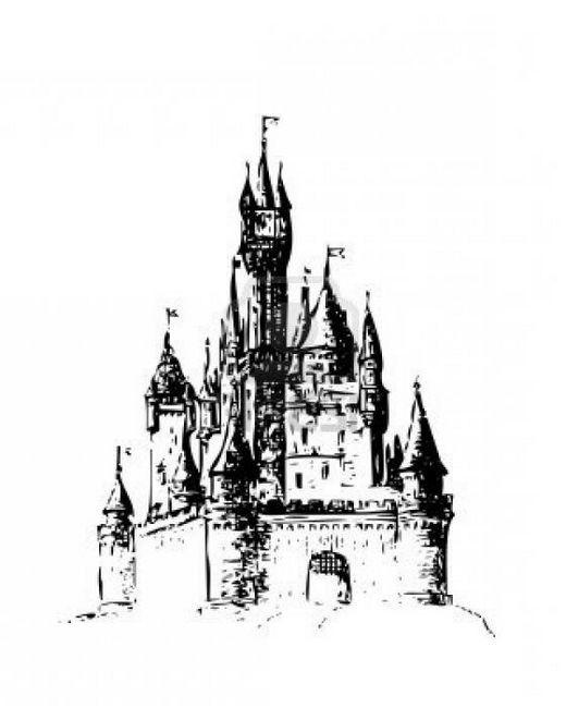 Jak nakreslit hrad. Pokyny krok za krokem