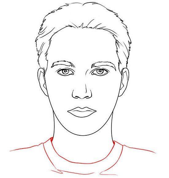 jak nakreslit tvář člověka správně