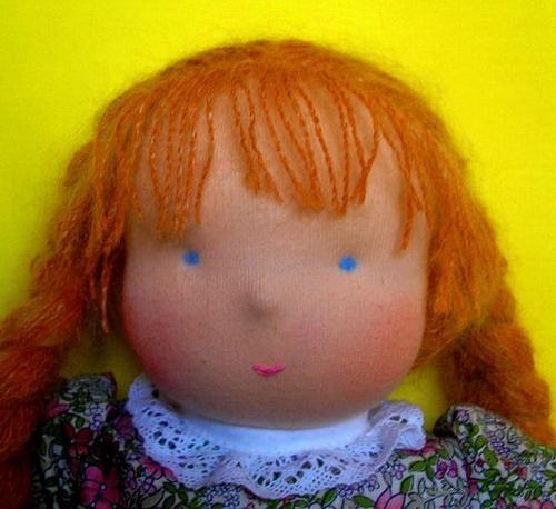 Jak šit hračku a její malé detaily: panenka, oči, vlasy