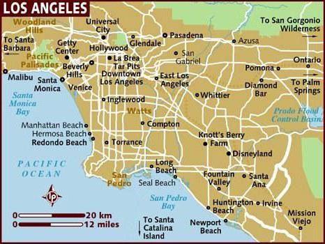 Los Angeles, Kalifornie: informace, zajímavosti, zajímavosti