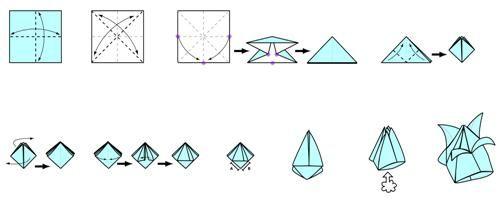 Origami `tulip` - jarní nálada po celý rok