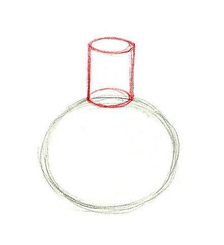 Krok za krokem se dozvídáme, jak nakreslit vázu