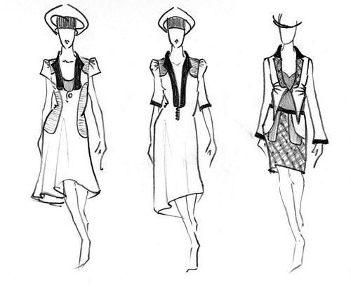 Jak nakreslit šaty