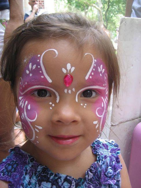 Výkresy na obličeji pro děti: nápady, technika aplikace aqua-grime