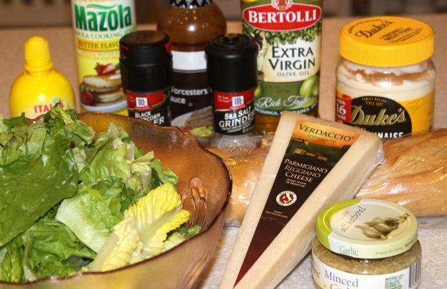složky Caesar salátu
